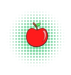 Apple icon pop-art style vector