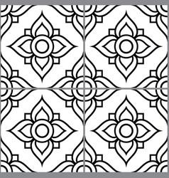 azujelo design lisbon tile seamless pattern vector image