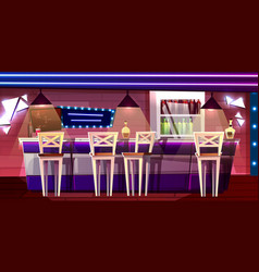 bar pub counter cartoon interior vector image