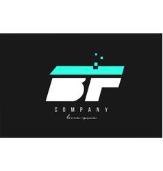 Bf b f alphabet letter logo combination in blue vector
