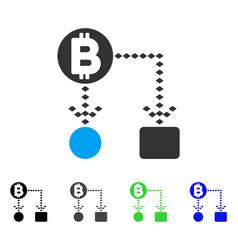 Bitcoin cashflow scheme flat icon vector