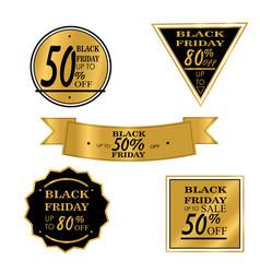 black friday sale big sale discount vector image
