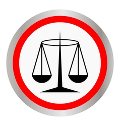 Black Justice scale icon vector image