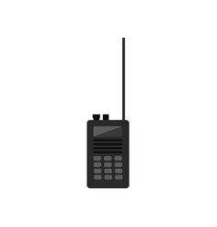 black walky talky vector image