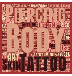 Body Art It s Cool To Be Safe text background vector image