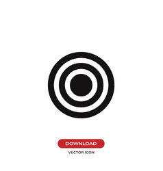 Bulls eye icon vector