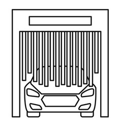 Car exit wash garage icon outline style vector