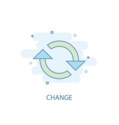 Change line concept simple line icon colored vector