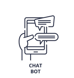 Chat bot line icon concept chat bot linear vector