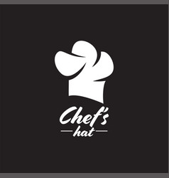 chef hat graphic design template isolated vector image