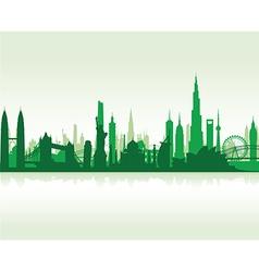 Cityscape green flat vector