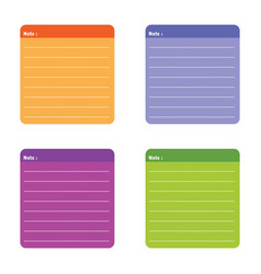 Color full note paper vector
