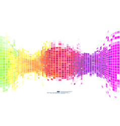 colorful abstract background mosaic pixels vector image