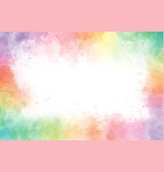 colorful rainbow watercolor splash background vector image
