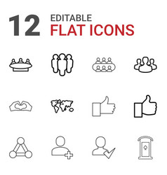 community icons vector image