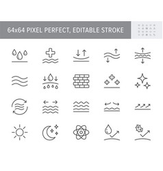 Cosmetic properties line icons vector