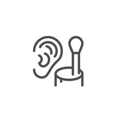 cotton ear stick line icon vector image