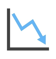 Declining Line Graph vector image