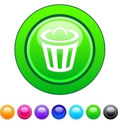 Dustbin circle button vector