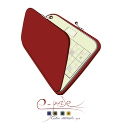 electronic purse vector image