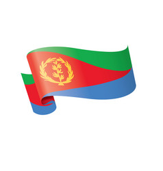 Eritrea flag on a white vector