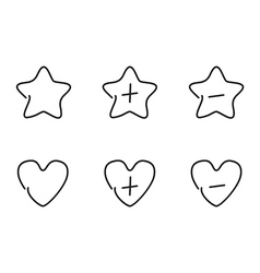 Favorite set icons vector