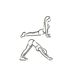 fitness exercise work out on vector image