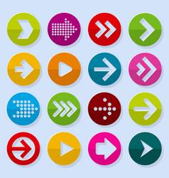 flat design paper arrows vector image
