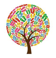 Flip flops in tree shape vector image