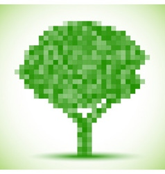 Green pixel tree vector image