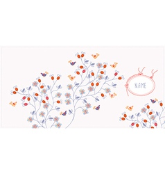 Greeting card bacgkround with flowers vector