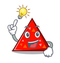 Have an idea triangel mascot cartoon style vector