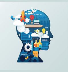 infographic child head shape idea vector image
