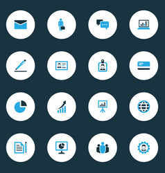 job colorful icons set collection of dialog vector image