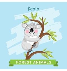 Koala forest animals vector