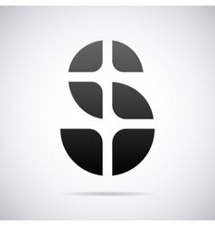 logo for letter S Design template vector image