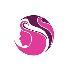 logo for woman salons and shops vector image