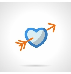 Love symbol flat color icon vector image