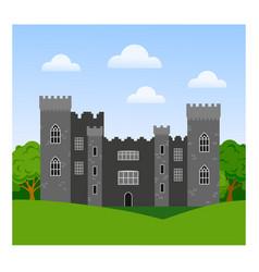 Malahide castle in ireland vector