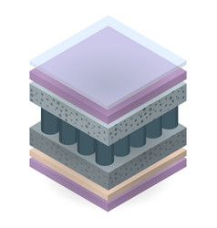Mattress layer icon isometric style vector