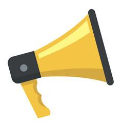 megaphone icon flat style vector image