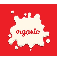 milk splodge red background vector image vector image