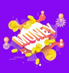 money vibrant gradient poster template vector image