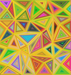 Multicolor chaotic triangle mosaic background vector image