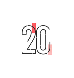 Number 20 template design design for anniversary vector