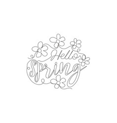 one single line drawing cute and beauty vector image