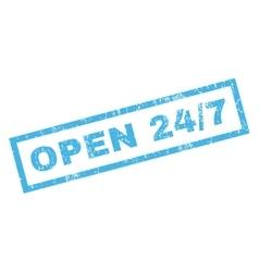 Open 24-7 Rubber Stamp vector