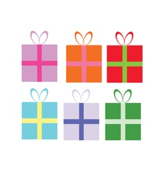 Package gift in colorful vector