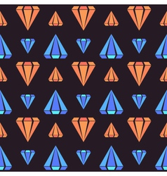 Retro contrast seamless pattern with diamonds vector image