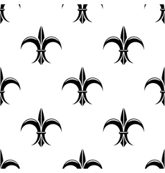 Retro seamless pattern with french fleur de lys vector image